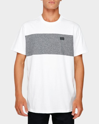 0 The Banded Panel Tee White 9591002 Billabong