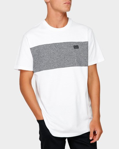1 The Banded Panel Tee White 9591002 Billabong