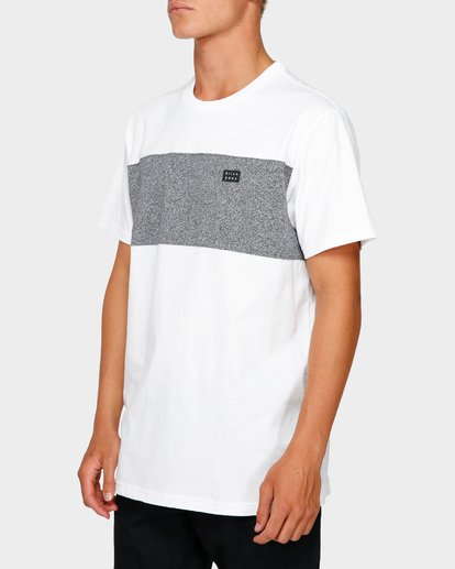 2 The Banded Panel Tee White 9591002 Billabong