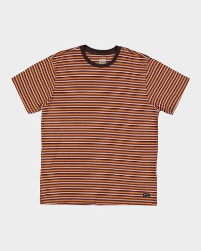 4 DIE CUT STRIPE TEE Orange 9591003 Billabong