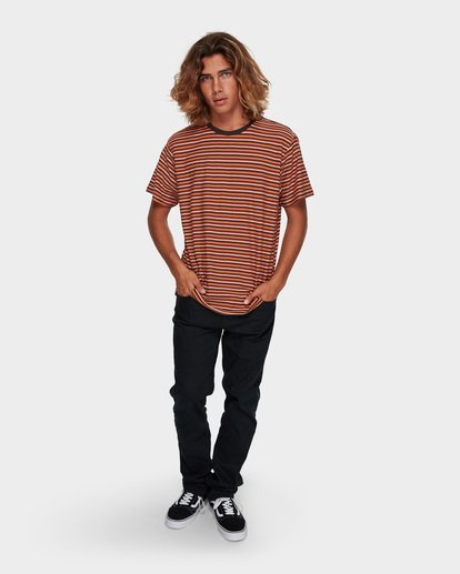 5 DIE CUT STRIPE TEE Orange 9591003 Billabong