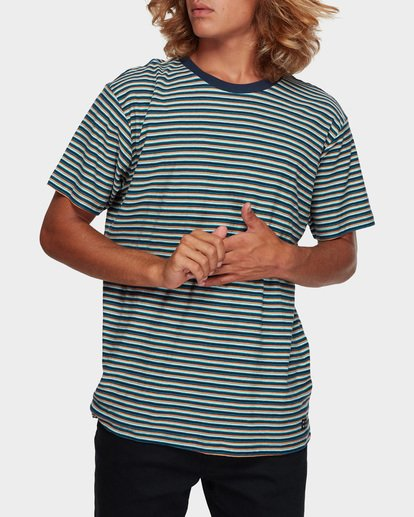 1 Die Cut Stripe Tee Blue 9591003 Billabong
