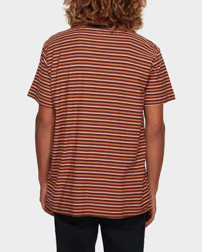 3 DIE CUT STRIPE TEE Orange 9591003 Billabong