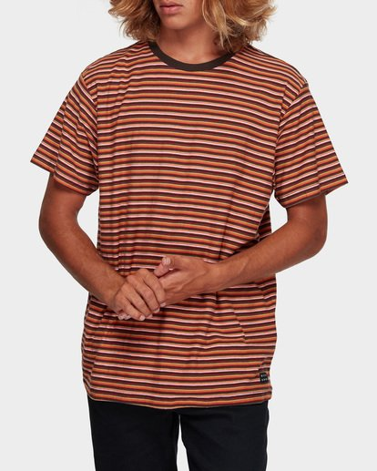 1 DIE CUT STRIPE TEE Orange 9591003 Billabong