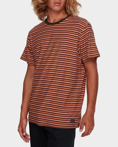 2 DIE CUT STRIPE TEE Orange 9591003 Billabong