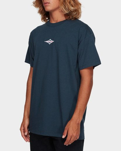 2 Cut Diamond Embroidered Tee Blue 9591010 Billabong
