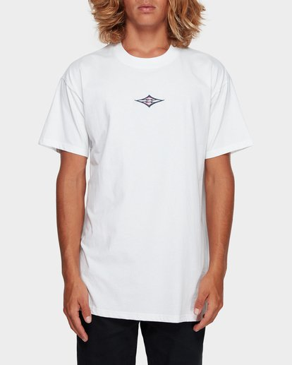 1 CUT DIAMOND EMBROIDERED TEE White 9591010 Billabong