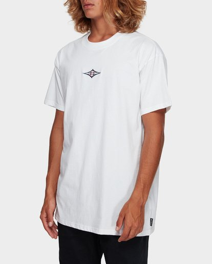 2 CUT DIAMOND EMBROIDERED TEE White 9591010 Billabong