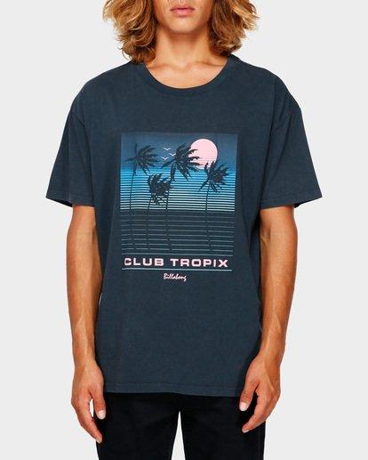 1 CLUB TROPIX TEE Blue 9591014 Billabong