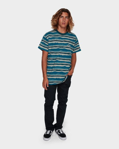 5 TEAR STRIPE TEE Blue 9591018 Billabong
