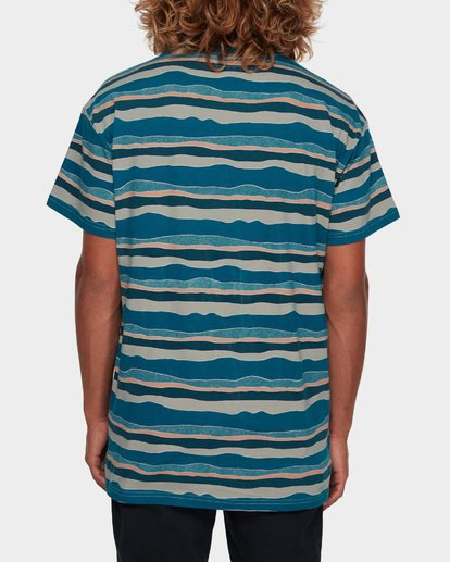 3 Tear Stripe Tee Blue 9591018 Billabong