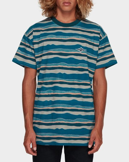 0 Tear Stripe Tee Blue 9591018 Billabong
