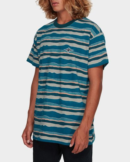 2 Tear Stripe Tee Blue 9591018 Billabong