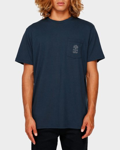 1 PALMSPIN TEE Blue 9591035 Billabong