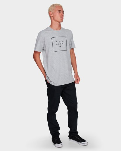 4 Stack It Tee Grey 9591054 Billabong