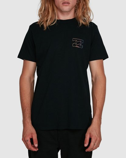 0 Aus Logo Line Short Sleeve Tee Black 9591070M Billabong