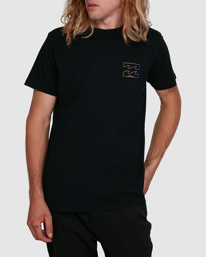 1 Aus Logo Line Short Sleeve Tee Black 9591070M Billabong