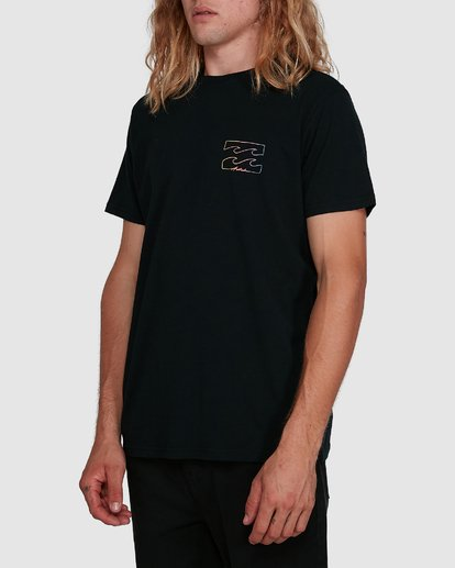 2 Aus Logo Line Short Sleeve Tee Black 9591070M Billabong