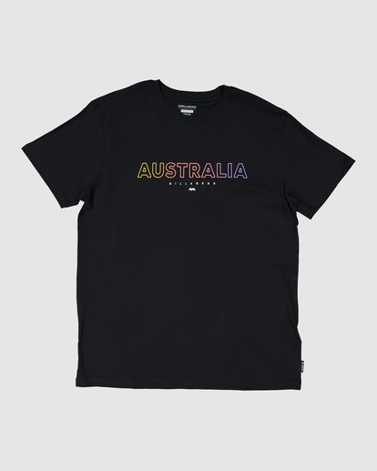 6 Aus Outlined Short Sleeve Tee Black 9591071M Billabong