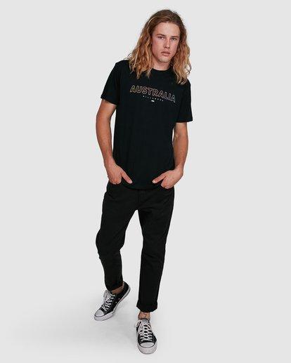 8 Aus Outlined Short Sleeve Tee Black 9591071M Billabong