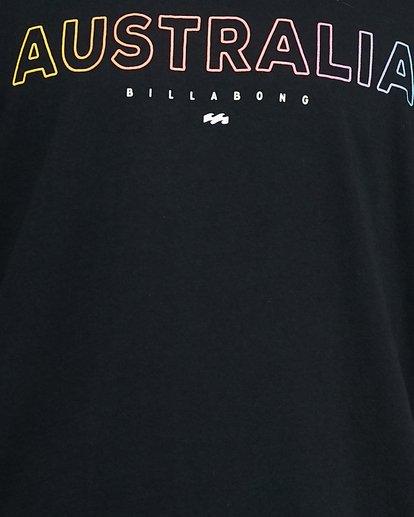 5 Aus Outlined Short Sleeve Tee Black 9591071M Billabong