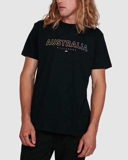 1 Aus Outlined Short Sleeve Tee Black 9591071M Billabong