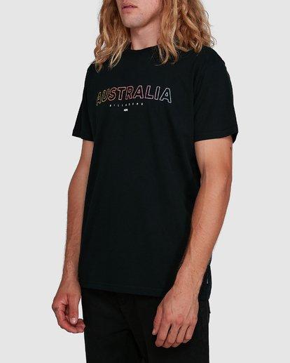 2 Aus Outlined Short Sleeve Tee Black 9591071M Billabong