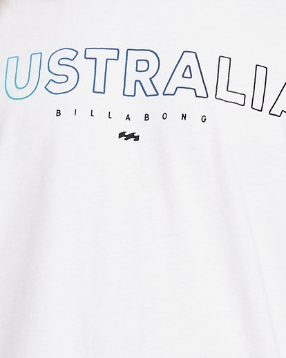 5 Aus Outlined Short Sleeve Tee White 9591071M Billabong