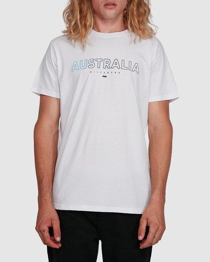 0 Aus Outlined Short Sleeve Tee White 9591071M Billabong