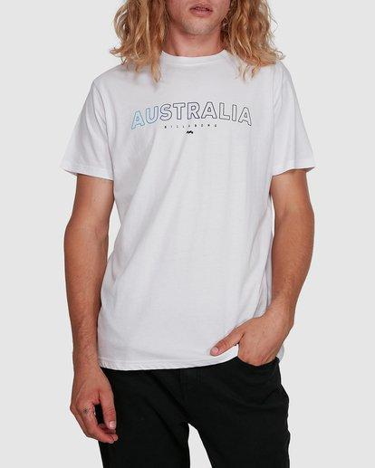 1 Aus Outlined Short Sleeve Tee White 9591071M Billabong