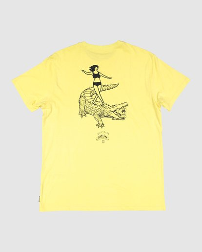 7 Straya Croc Short Sleeve Tee Yellow 9591073M Billabong