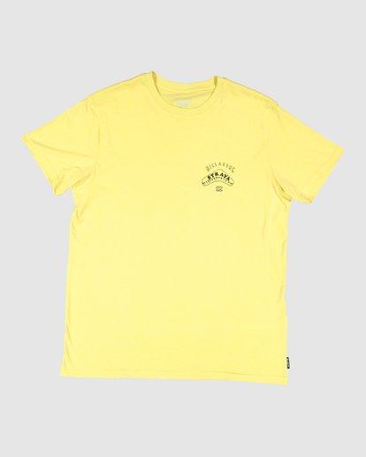 6 Straya Croc Short Sleeve Tee Yellow 9591073M Billabong