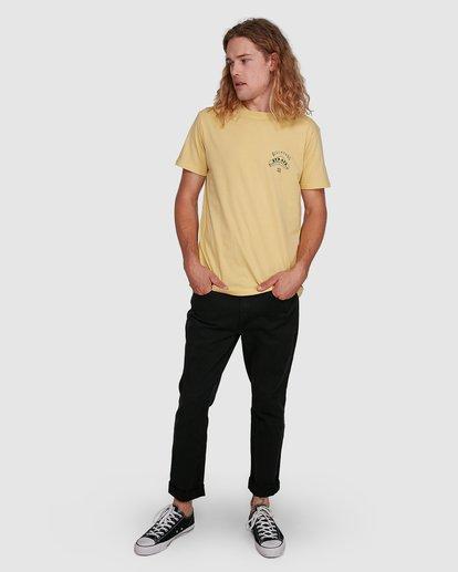 8 Straya Croc Short Sleeve Tee Yellow 9591073M Billabong