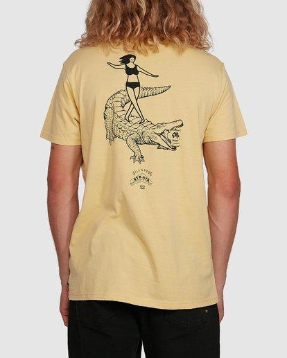 3 Straya Croc Short Sleeve Tee Yellow 9591073M Billabong