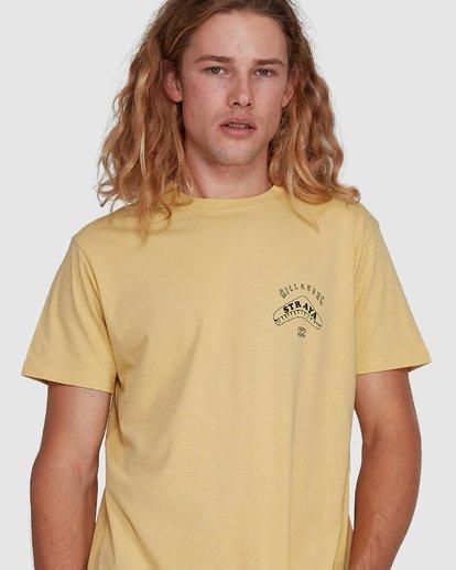 4 Straya Croc Short Sleeve Tee Yellow 9591073M Billabong