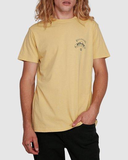 1 Straya Croc Short Sleeve Tee Yellow 9591073M Billabong