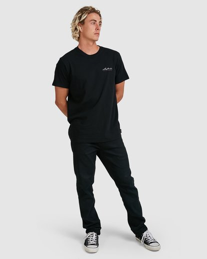 8 Swell Lines Short Sleeve Tee Black 9591074M Billabong