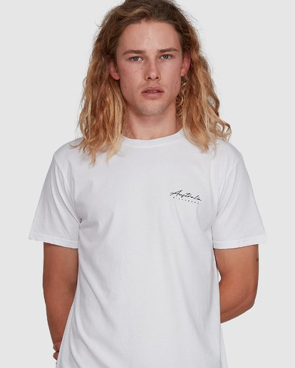 4 Swell Lines Short Sleeve Tee White 9591074M Billabong