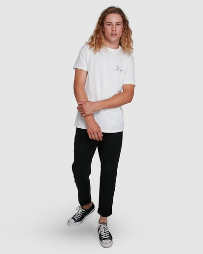 8 Die Cut Tee White 9591104X Billabong