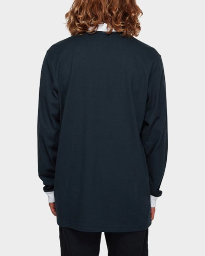3 THICC BOSS LONG SLEEVE POLO Blue 9591156 Billabong