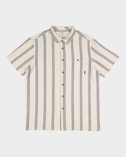4 SUNDAYS JACQUARD SHORT SLEEVE SHIRT White 9591203 Billabong