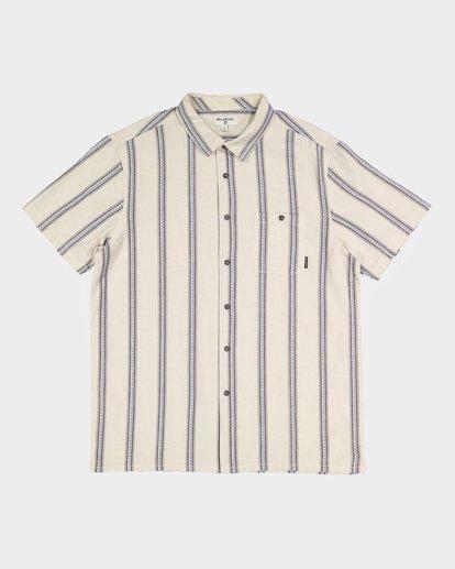 4 Sundays Jacquard Short Sleeve Shirt White 9591203 Billabong