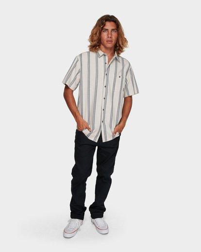 5 SUNDAYS JACQUARD SHORT SLEEVE SHIRT White 9591203 Billabong