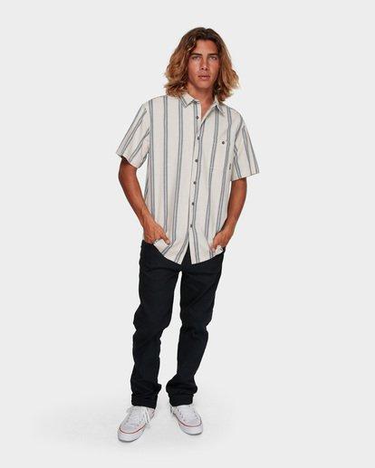 5 Sundays Jacquard Short Sleeve Shirt White 9591203 Billabong