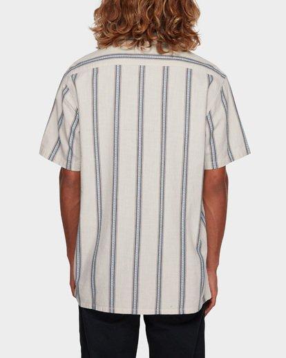 3 Sundays Jacquard Short Sleeve Shirt White 9591203 Billabong