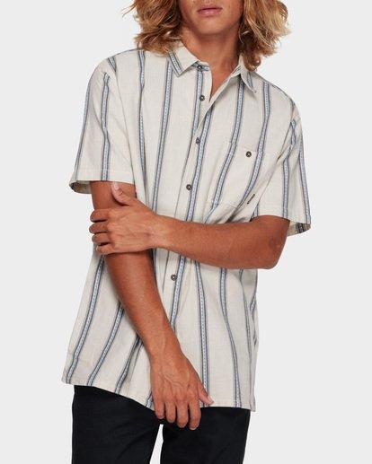 1 Sundays Jacquard Short Sleeve Shirt White 9591203 Billabong
