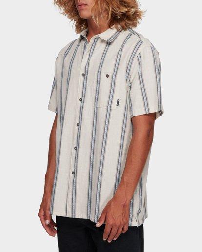 2 Sundays Jacquard Short Sleeve Shirt White 9591203 Billabong