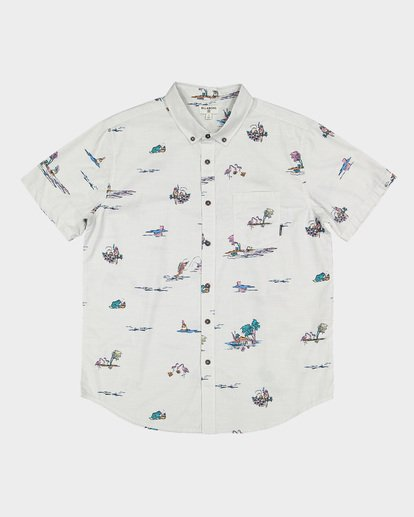 4 SUNDAYS MINI SHORT SLEEVE SHIRT White 9591210 Billabong