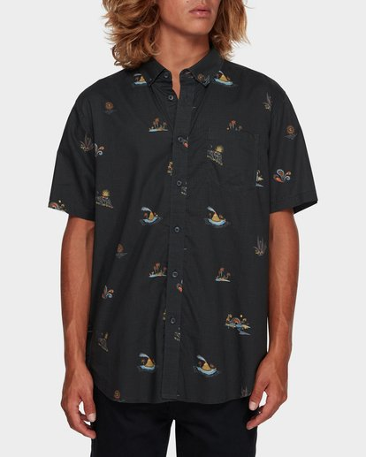 0 SUNDAYS MINI SHORT SLEEVE SHIRT Black 9591210 Billabong