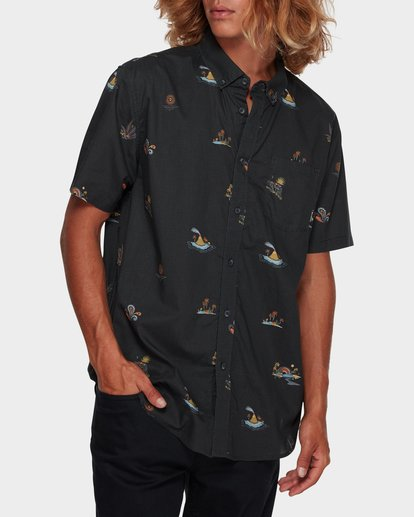 1 Sundays Mini Short Sleeve Shirt Black 9591210 Billabong